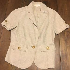 Michael Kors petite small linen tan blazer